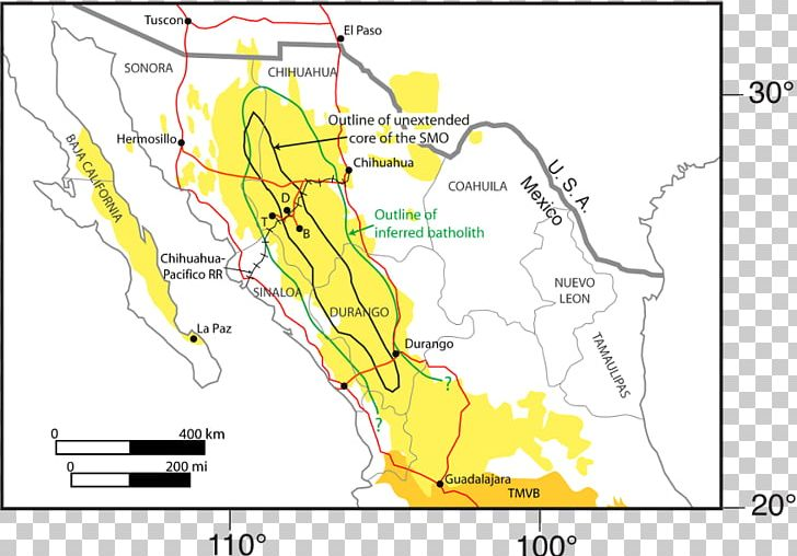 Mexican Plateau Sierra Madre Oriental Large Igneous Province ...