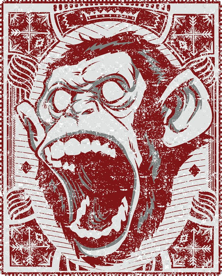Chimpanzee Ape Primate Gorilla The Evil Monkey PNG, Clipart, Anger