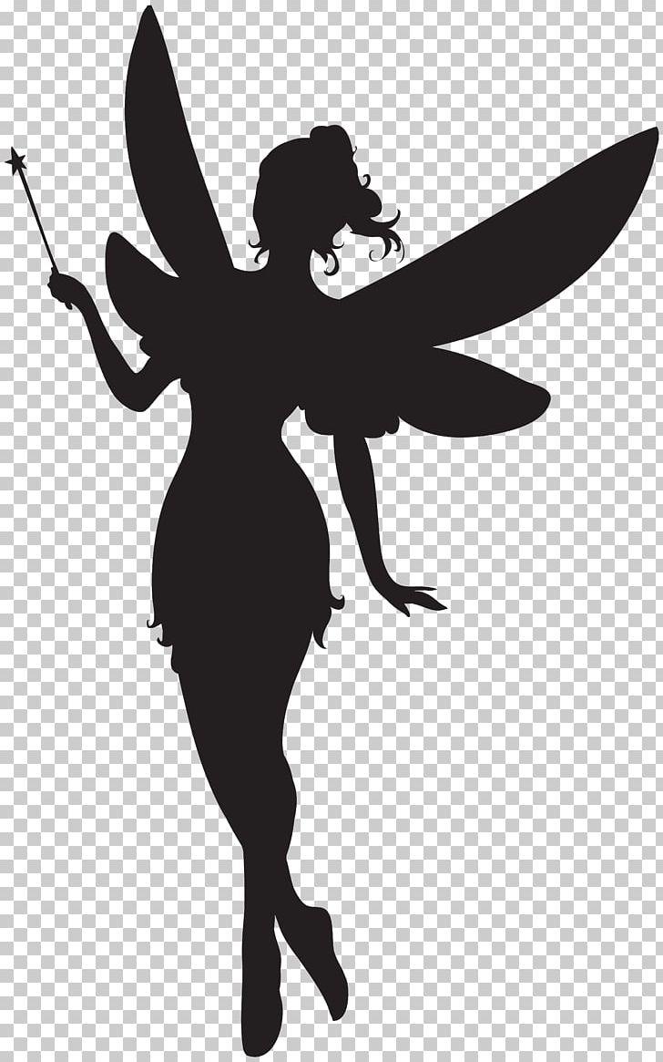 Fairy silhouette. Png clipart art black