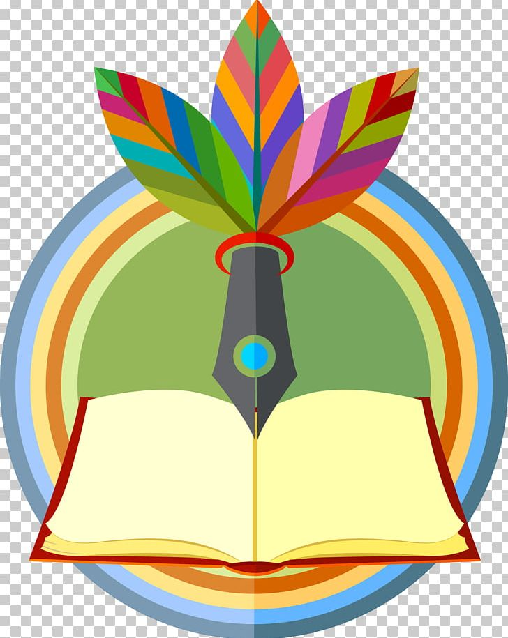 Books logo. Marker pen quill png