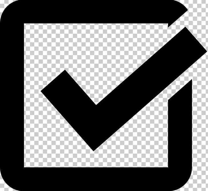 Check Mark Checkbox Computer Icons PNG, Clipart, Angle, Area, Black, Black And White, Black Check Mark Free PNG Download