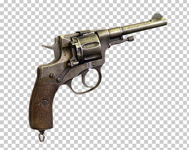 Revolver Firearm Trigger Pistol Nagant M1895 PNG, Clipart