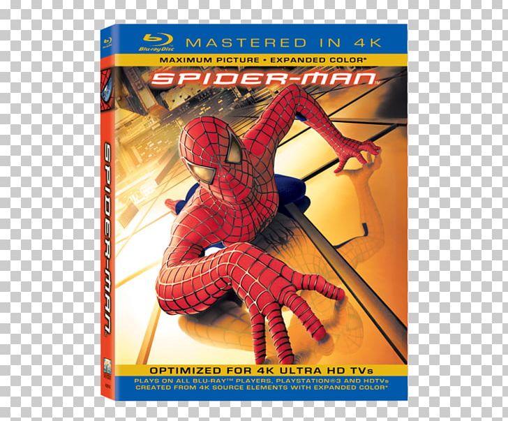 Spider-Man Ultra HD Blu-ray Blu-ray Disc YouTube 4K Resolution PNG