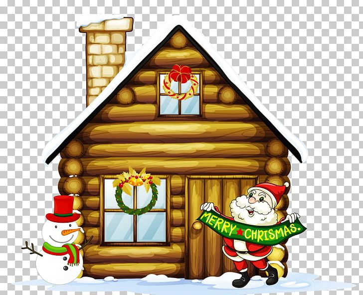 Transparent Christmas House With Santa And Snowman PNG, Clipart, Christmas, Christmas Clipart, Christmas Decoration, Christmas Lights, Christmas Ornament Free PNG Download