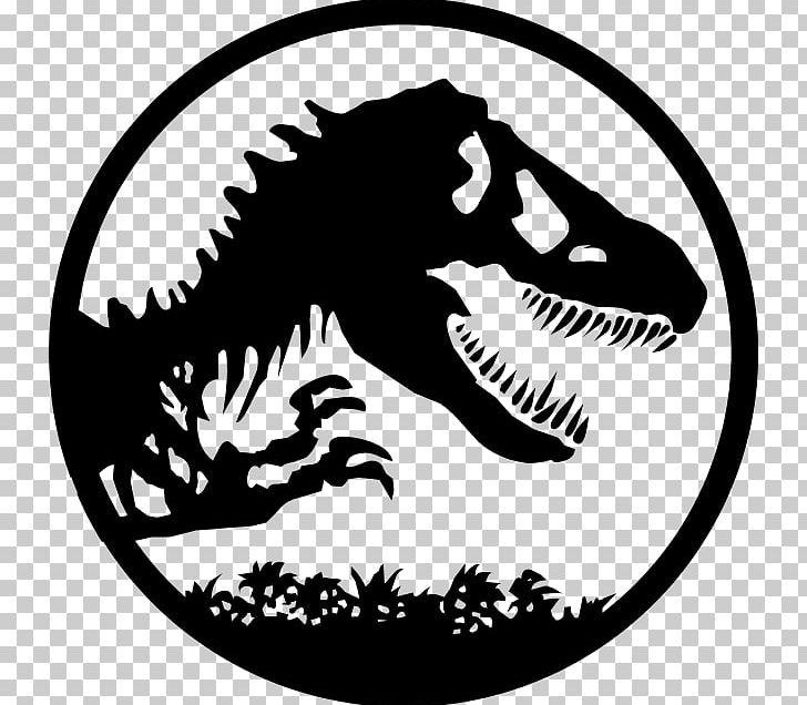 YouTube Jurassic Park The Lost World Logo PNG, Clipart, Artwork, Black And White, Dinosaur, Fictional Character, Film Free PNG Download