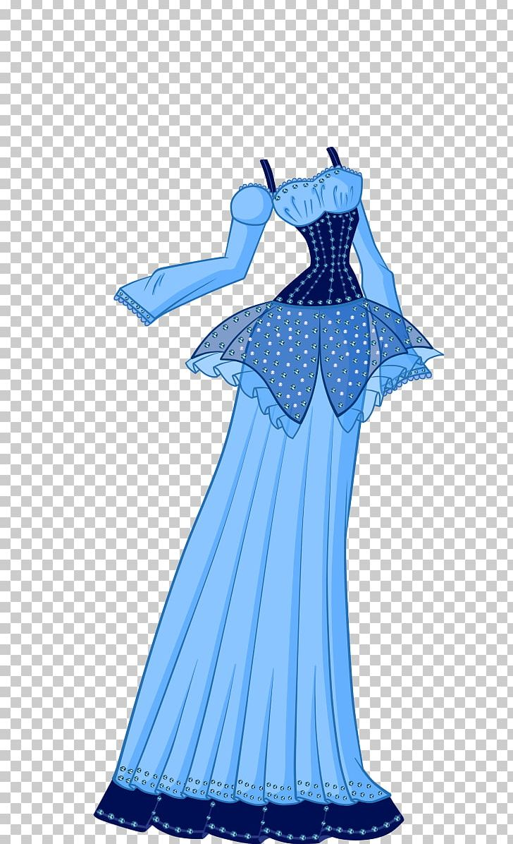 Gown Shoulder Dress Dance Costume PNG, Clipart, Blue, Clothing, Costume, Costume Design, Dance Free PNG Download