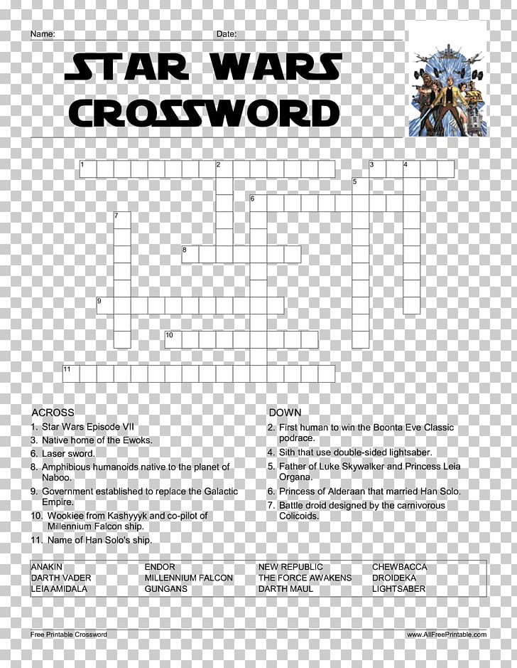 Kylo Ren Crossword Star Wars Word Search Puzzle PNG, Clipart