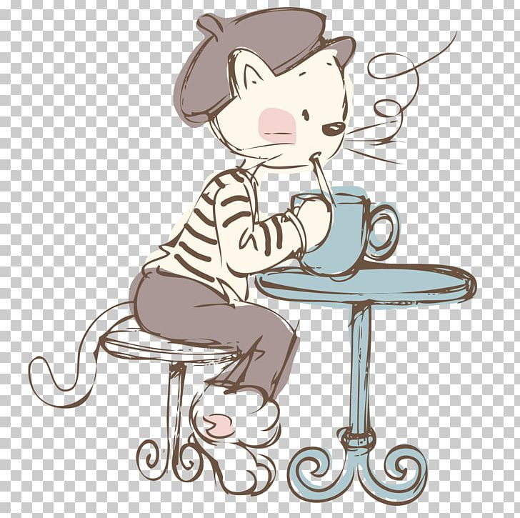 cat coffee cafe kopi luwak png clipart art cafe vector carnivoran cartoon cat free png download imgbin com