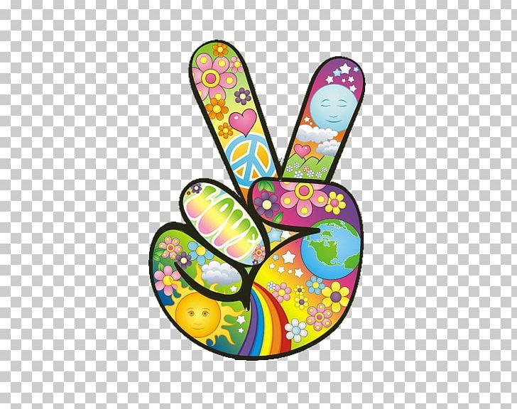 1960s Peace Symbols Hippie Flower Power PNG, Clipart ...