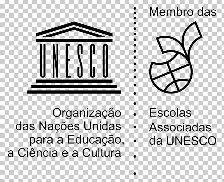 UNESCO ASPNet School Education Logo PNG, Clipart, Angle, Area, Black, Black And White, Cram School Free PNG Download
