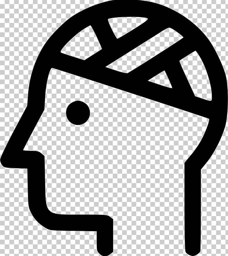 Head Injury Computer Icons PNG, Clipart, Acquired Brain Injury, Area, Bandage, Black And White, Brain Free PNG Download