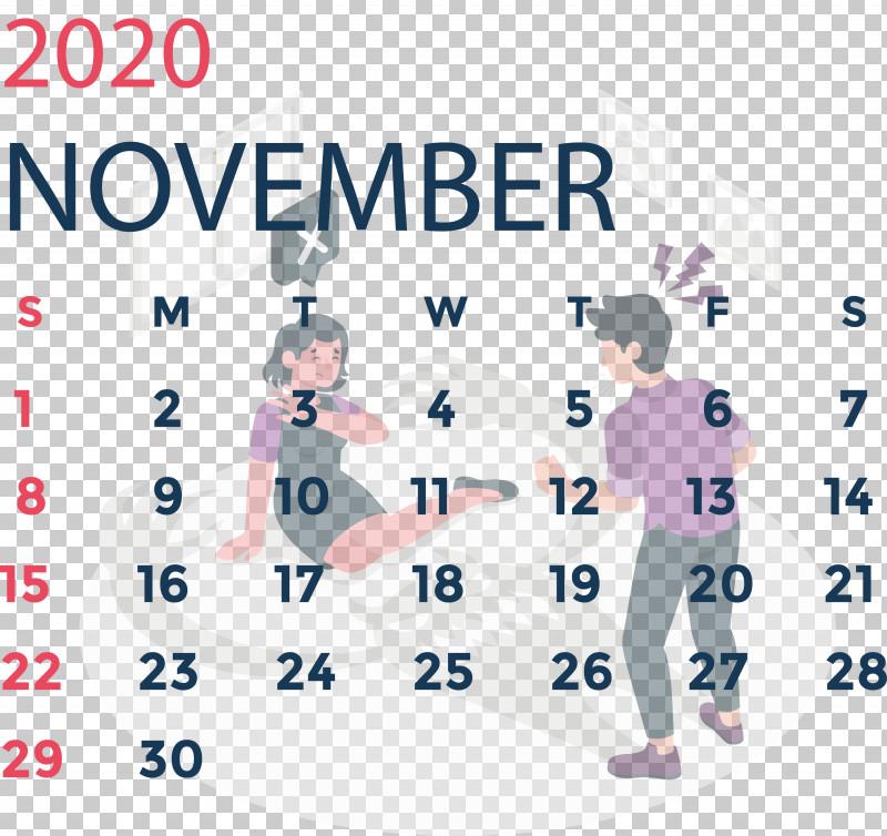 November 2020 Calendar November 2020 Printable Calendar PNG, Clipart, Area, Behavior, Conversation, Line, Logo Free PNG Download