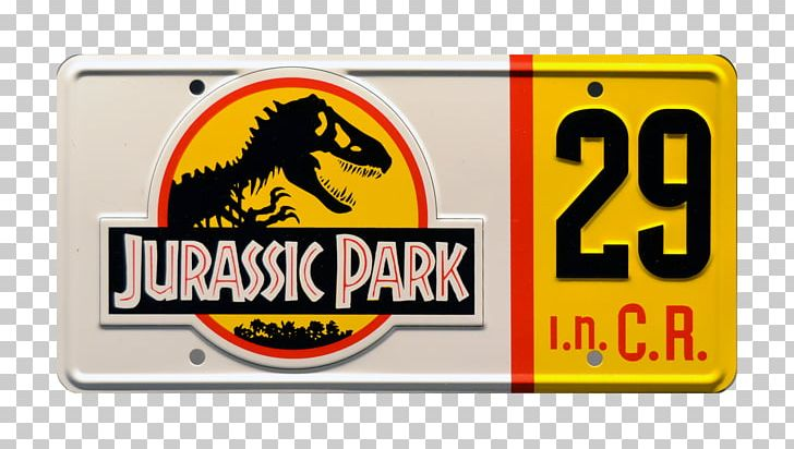 Vehicle License Plates Jurassic Park Logo PNG, Clipart, Area, Automotive Exterior, Brand, Hardware, Jurassic Park Free PNG Download