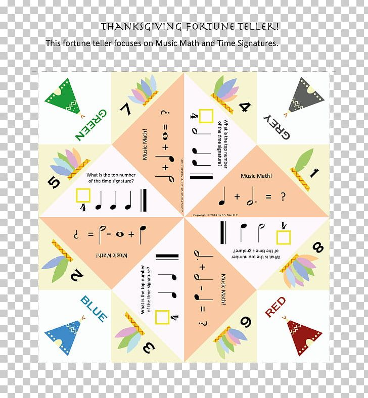 Paper Fortune Teller Fortune-telling Music Thanksgiving PNG