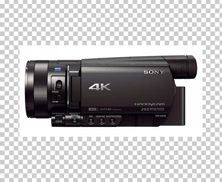 Sony Handycam FDR-AX100 Video Cameras 4K Resolution PNG, Clipart, 4k Resolution, Audio Receiver, Camera, Camera Accessory, Camera Lens Free PNG Download