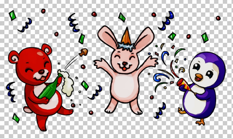 Cartoon Happy Rabbits And Hares Smile PNG, Clipart, Cartoon, Happy, Paint, Rabbits And Hares, Smile Free PNG Download