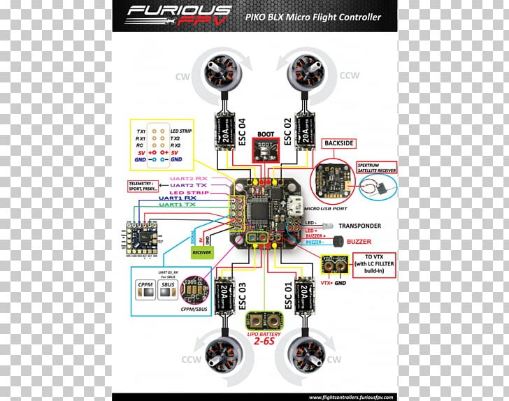 FPV Quadcopter Wiring Diagram Drone Racing Electrical Wires ... on