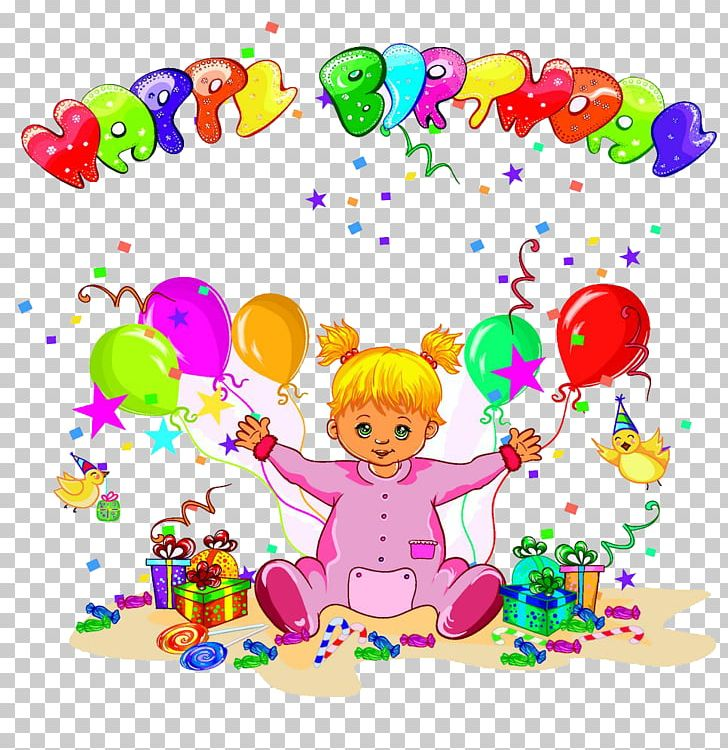 Birthday Illustration Background Design Template Png