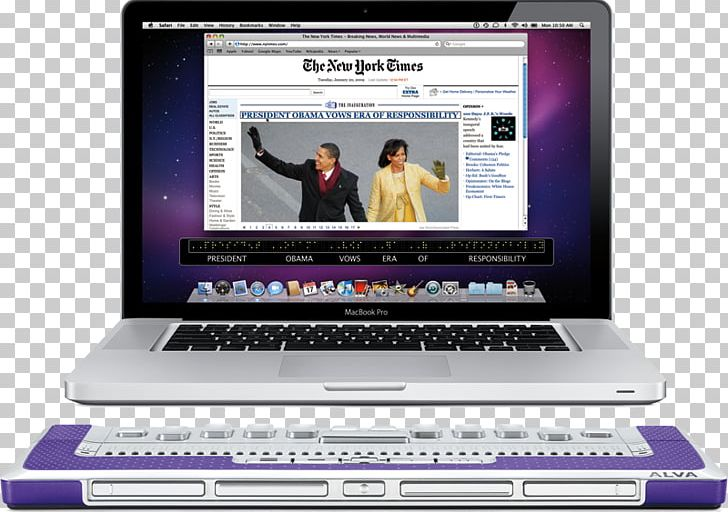 Netbook Refreshable Braille Display Mac OS X Snow Leopard