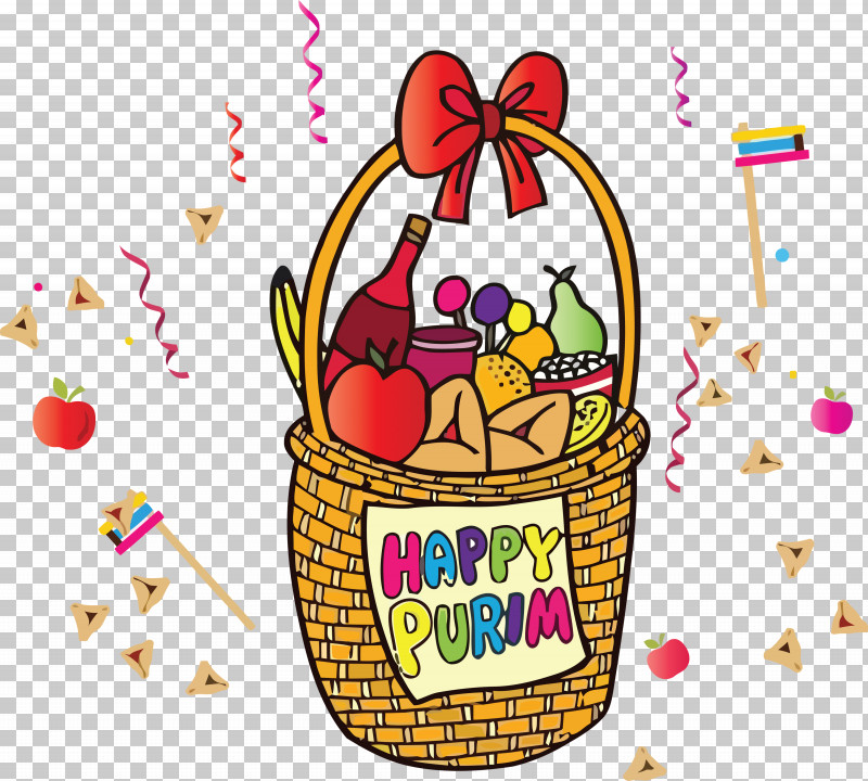 Purim Jewish Holiday PNG, Clipart, Basket, Cartoon, Gift Basket, Holiday, Jewish Free PNG Download