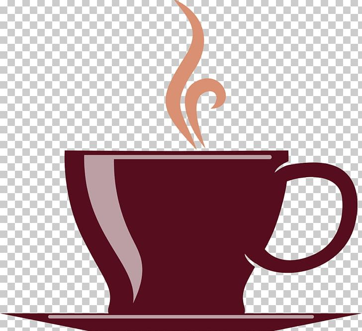 Coffee Cup Tea Cafe Hot Chocolate PNG, Clipart, Brief Strokes, Brown, Brown Background, Brown Vector, Cafe Free PNG Download