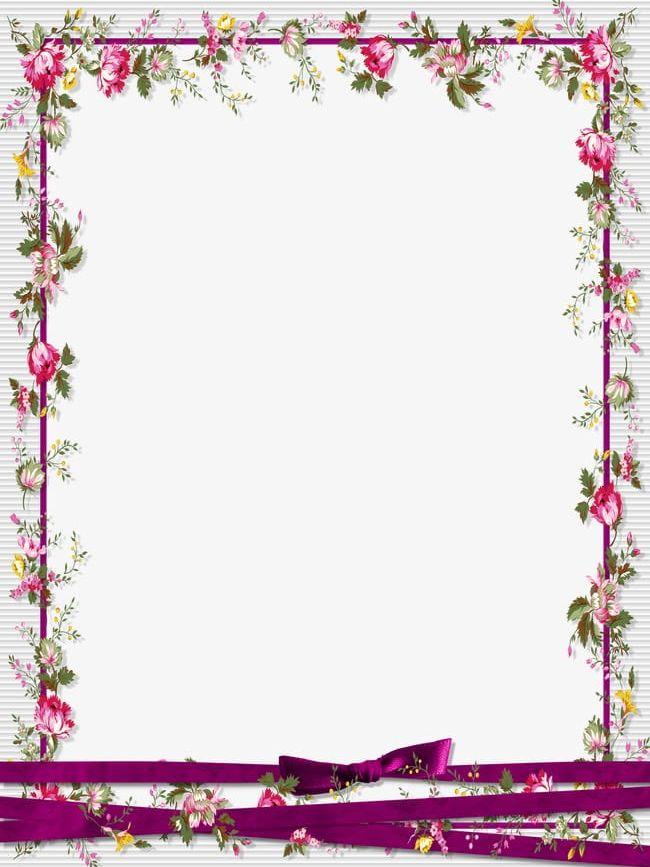 Floral Border Design Png Clipart Border Border Clipart