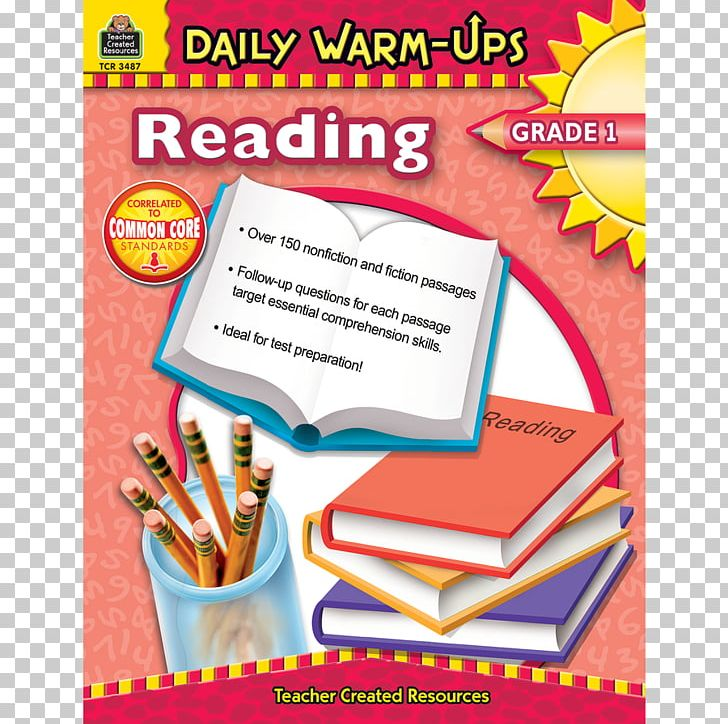 Daily Warm-Ups: Reading PNG, Clipart, 1st Grade, Area, Book