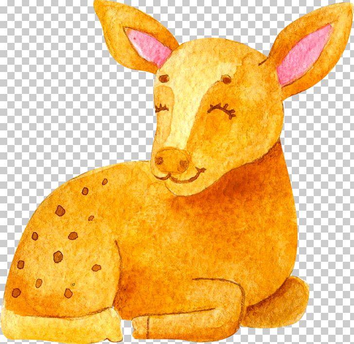 Watercolor Painting Brown Food PNG, Clipart, Adobe Illustrator, Animal, Brown, Cartoon, Christmas Deer Free PNG Download