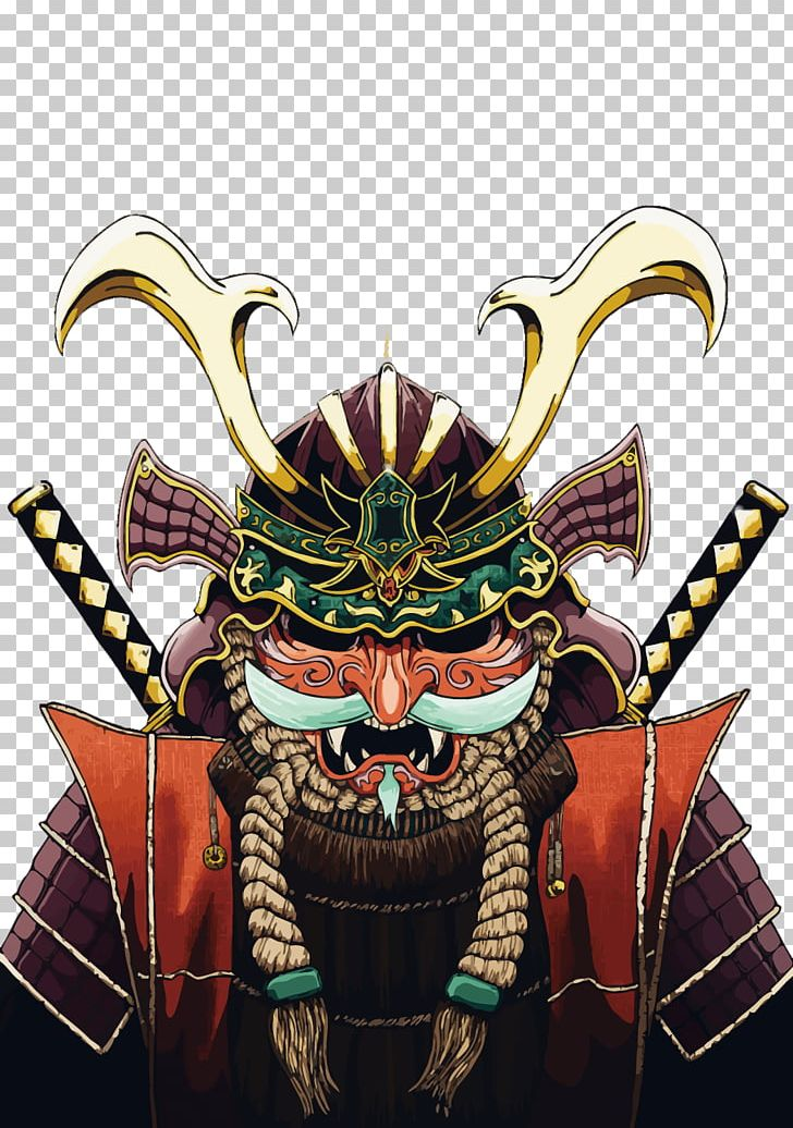 Japan Samurai Art Warrior Illustration Png Clipart Art Drawing Face Fantasy Ghost Free Png Download
