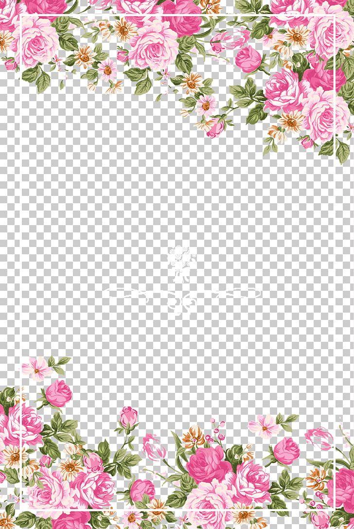 Wedding Invitation Paper Flower Rose Pink PNG, Clipart, Border, Border Frame, Certificate Border, Color, Cut  Free PNG Download