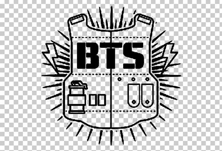 Bts Drawing K Pop Logo Png Clipart Area Art Black Black And