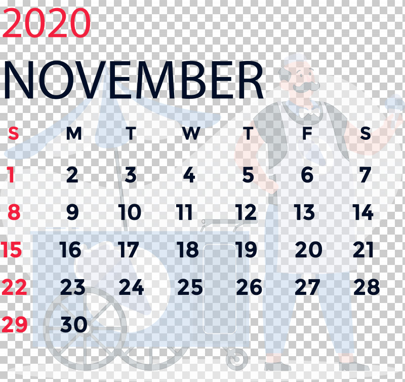 November 2020 Calendar November 2020 Printable Calendar PNG, Clipart, Angle, Area, Behavior, Human, Line Free PNG Download