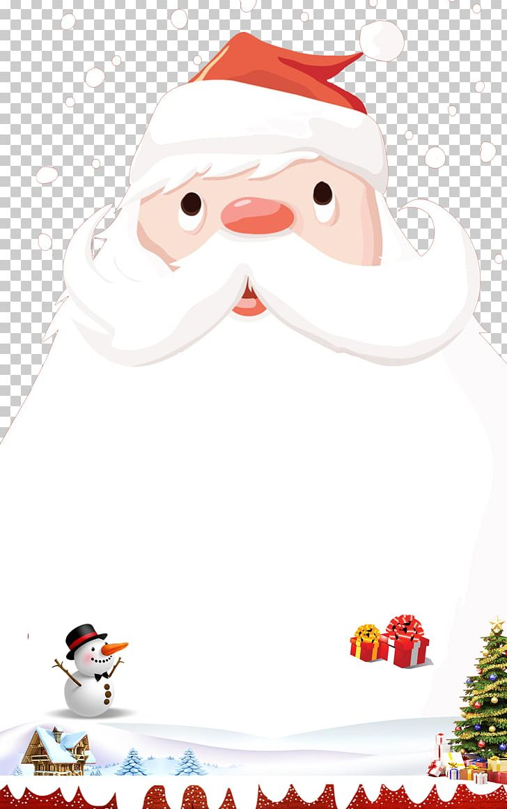 Santa Claus Christmas Ornament Poster PNG, Clipart, Advertising, Art, Christmas, Christmas Border, Christmas Decoration Free PNG Download