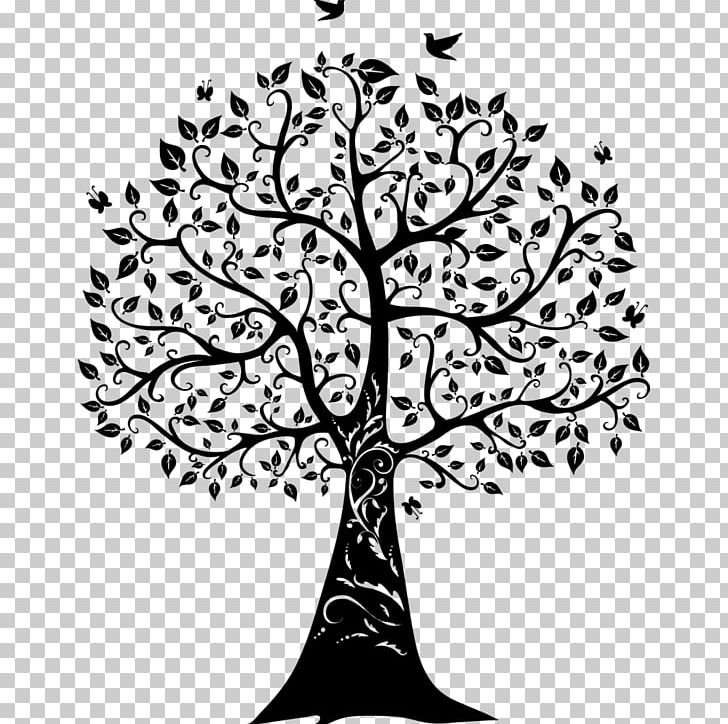 Paper Wall Decal Tree Of Life Png Clipart Art Black And