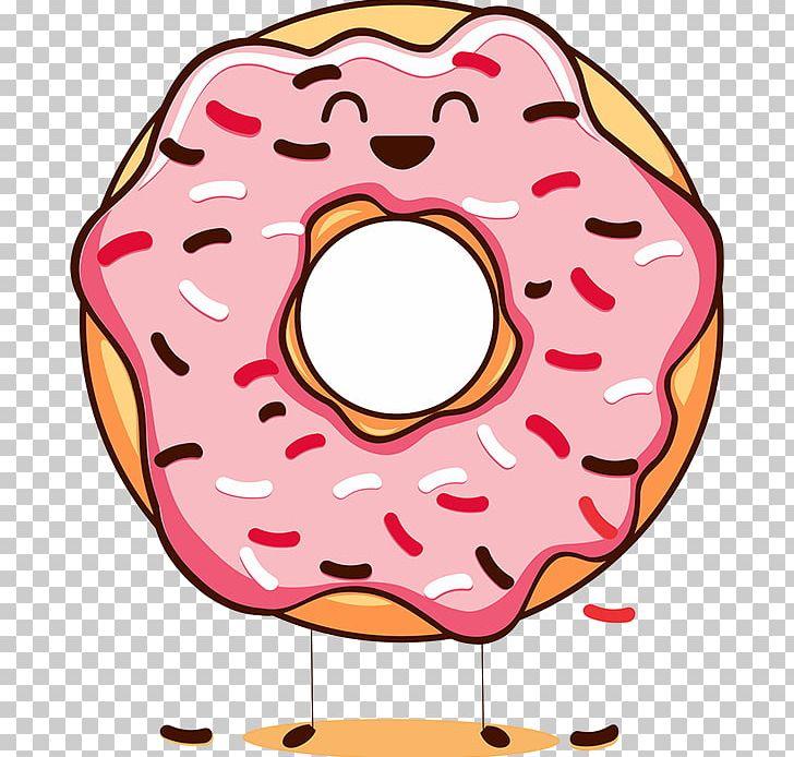 Donut cartoon. Happy donuts national doughnut