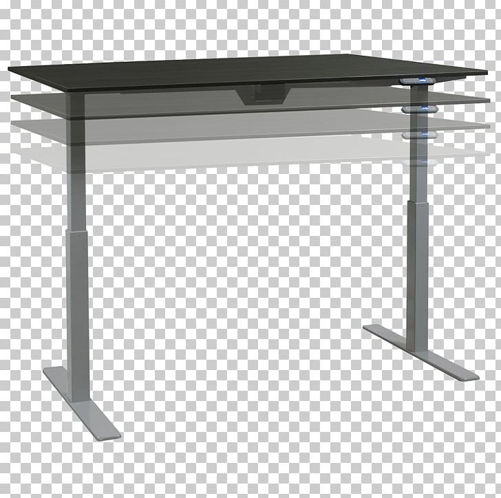 Sit-stand Desk Table Standing Desk Office PNG, Clipart, Angle, Desk, Furniture, Grey, Interior Design Services Free PNG Download