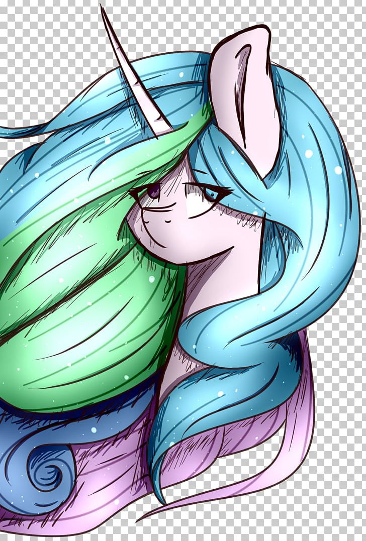 Horse Illustration Cartoon Fairy Green PNG, Clipart, Animals, Anime, Cartoon, Celestia, Computer Free PNG Download