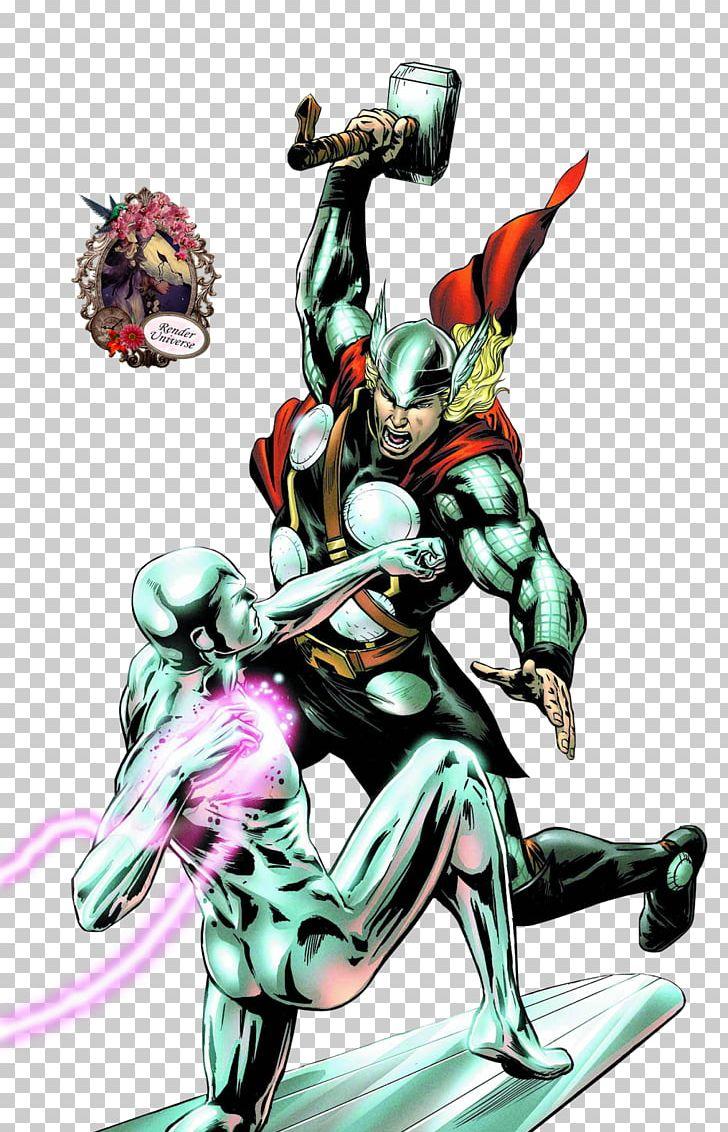 Silver Surfer Thor Comics Galactus Superhero PNG, Clipart