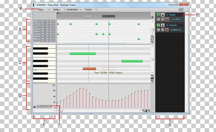 Cakewalk Sonar Piano Roll Digital Audio MIDI PNG, Clipart