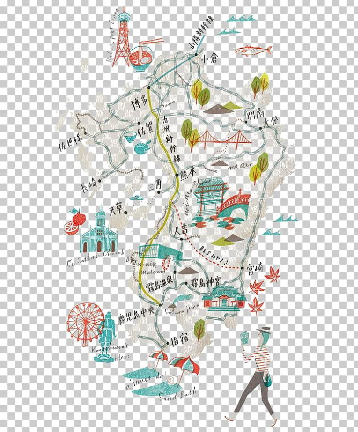 Japan A Map The World According To Illustrators