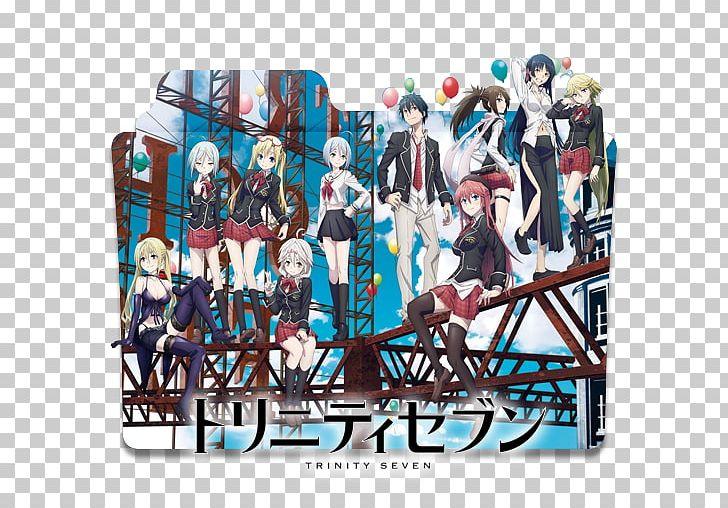 Trinity Seven Anime Female Manga Png Clipart Anime Art