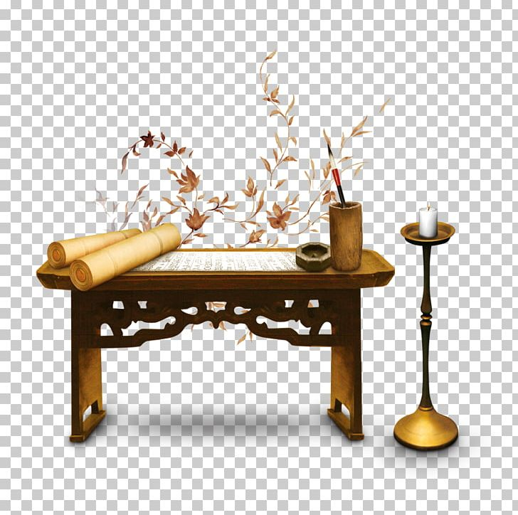 Book On The Table Clipart Black And White 1 » Clipart - Black And White Desk  Clipart, HD Png Download - kindpng