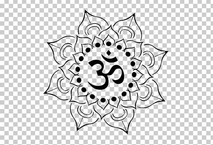 Om Nelumbo Nucifera Tattoo Symbol PNG, Clipart, Artistic, Black, Black And White, Brand, Circle Free PNG Download