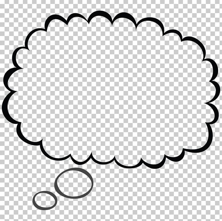 Speech Balloon Thought PNG, Clipart, Area, Black, Black And White, Bubble, Cartoon Free PNG Download