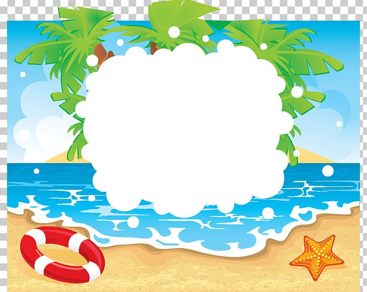 Summer border. Beach vacation png clipart