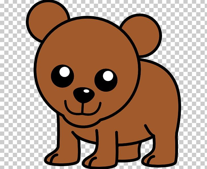 Bear cartoon. Brown png clipart artwork