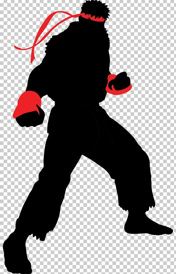 Ryu Silhouette Hadoken Png Clipart Animals Cartoon Drawing
