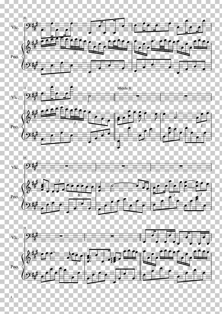 Sheet Music Libertango Cello Piano Duet