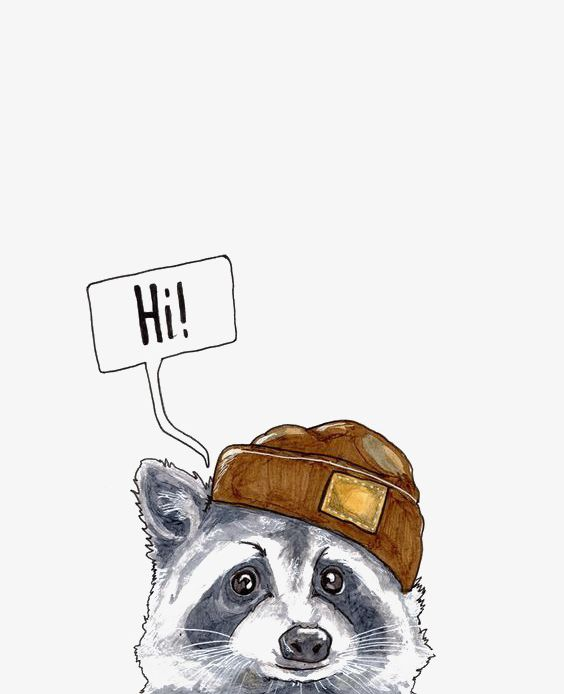 Cartoon Raccoon PNG, Clipart, Animal, Cartoon, Cartoon Clipart, Coon, Hand Free PNG Download