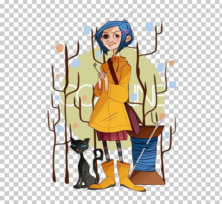 Dakota Fanning Coraline Fan Art Drawing Png Clipart Anime Art Book Cartoon Character Free Png Download